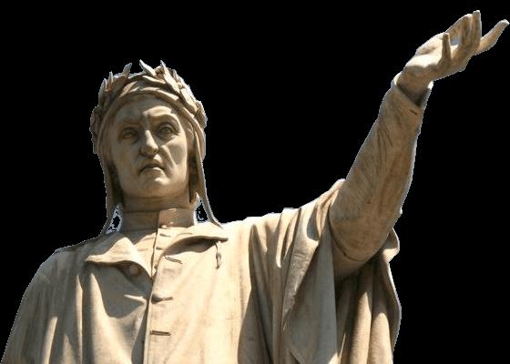 Estátua do poeta autor da A Divina Comédia