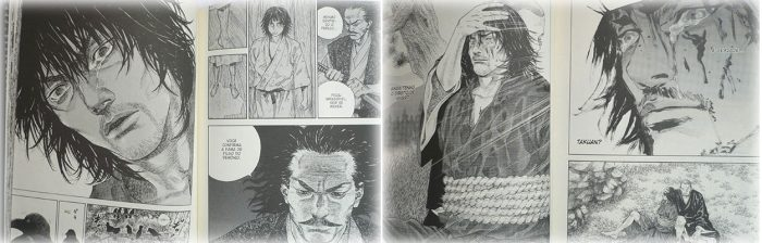 Takezo passa a criar ciência de seus atos e de todas as vidas que tirou