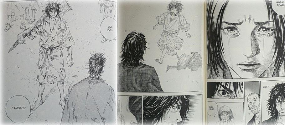 Relances da infância de Takezo e Otsu