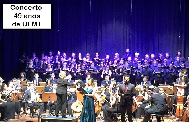 Concerto musical UFMT 49 anos com a Orquestra sinfônica e Coral da Universidade