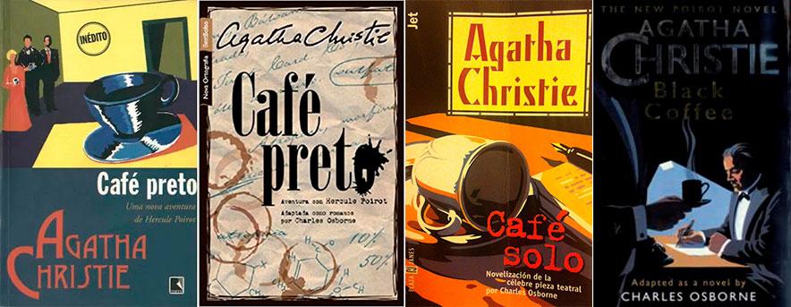 Agatha Christie Café Preto capas de livros