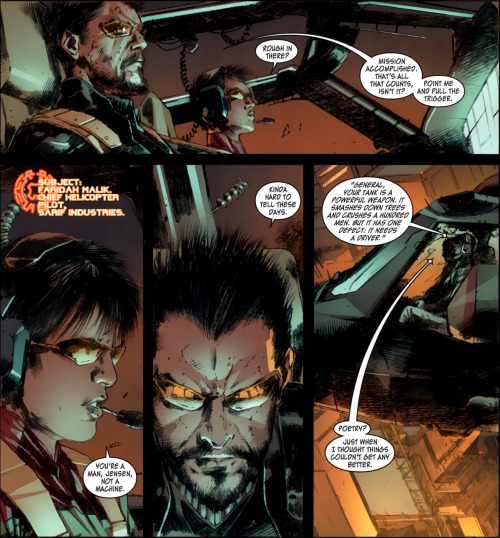 Deus Ex Human Revolution Comic Gibi personagens