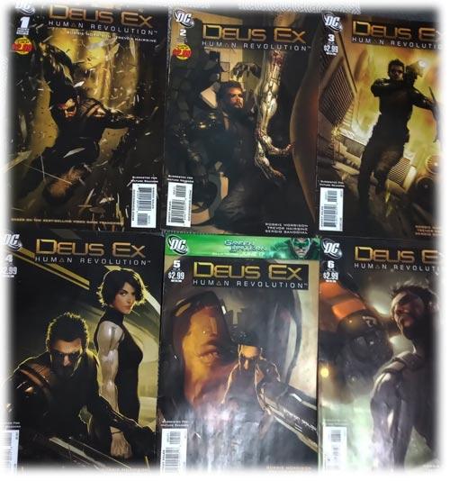 Deus Ex Human Revolution comics do 1 ao 6